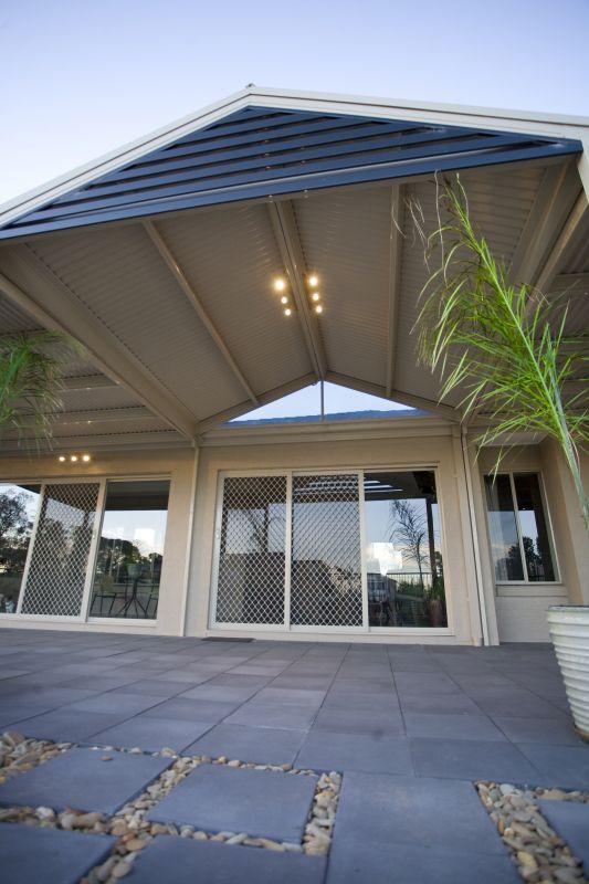 Roof Design Ideas: Pergolas Plus Outdoor Living : Gable Roof Dark Gable