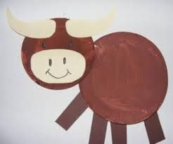 paper plate bull. Farm Animal ... & paper plate bull | Principles of Ag | Pinterest | Farm crafts and ...