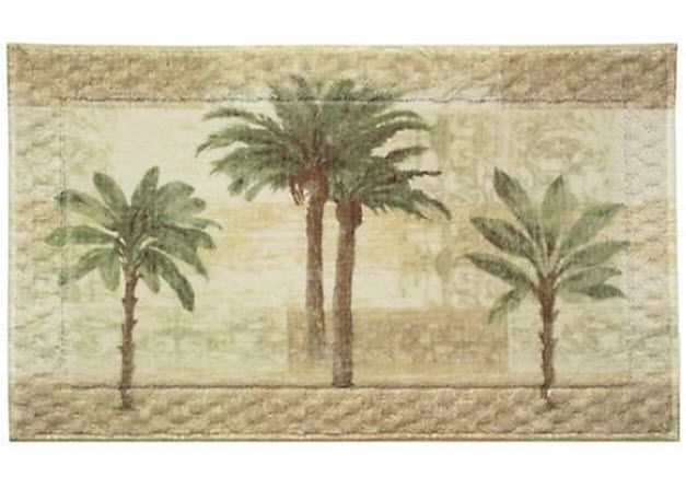 Palm Tree Bath Towels | Palm Tree Rug Pictured: Bacova Citrus Palm Rug By  Bacova