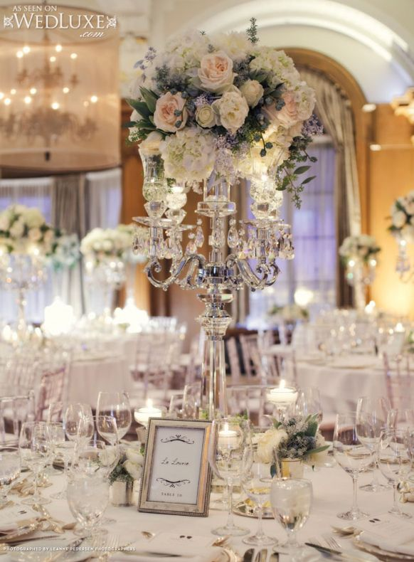 Elegant Vintage Wedding Centerpieces glamorous vintage wedding