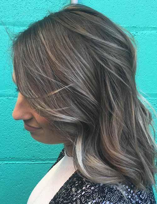 Top 25 Light Ash Blonde Highlights Haarfarbe Ideen für blondes und braunes Haar #N ... ,  #as... #ashblondebalayage