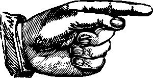 Vintage Pointing Finger Hand Clip Art Afbeeldingen Antiek Tekenen