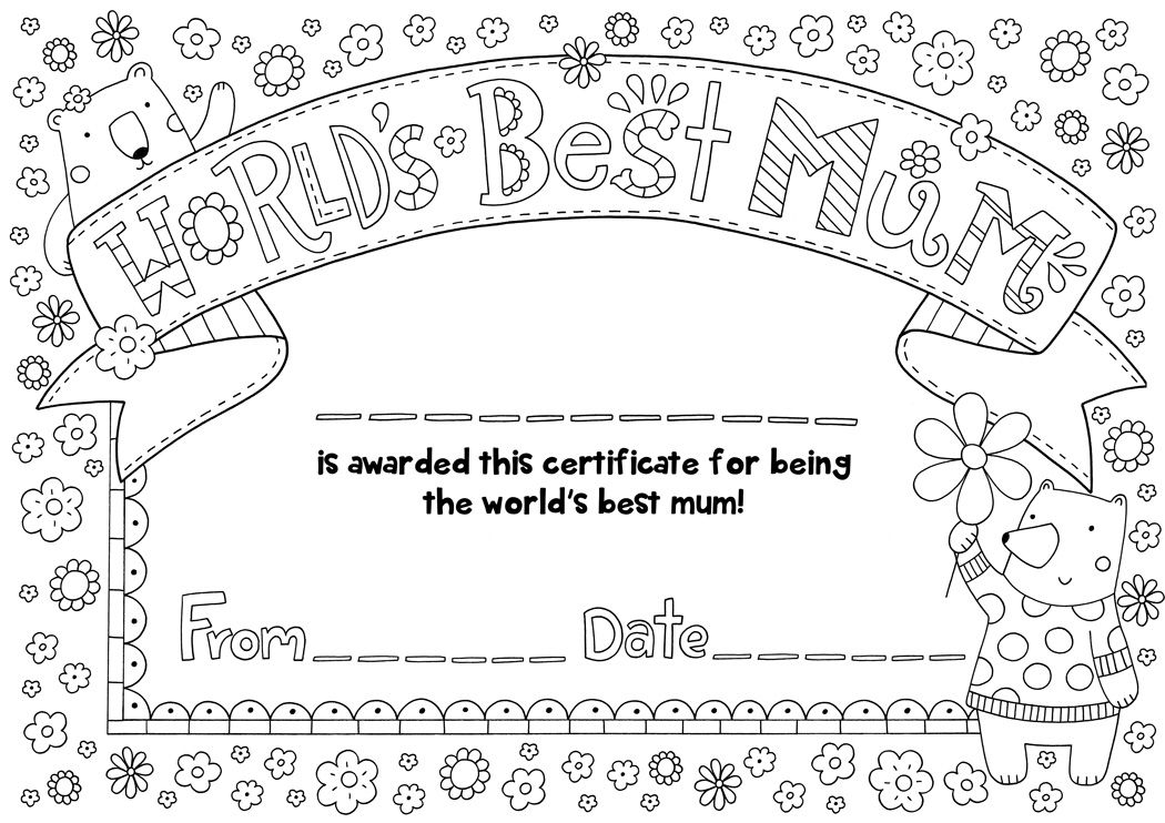 free mother s day certificate download mother s day pinterest