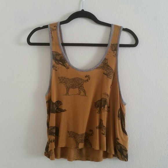 F21 Leopard cat print tank. Stretchy material, but not stretched from use! Size M (US). Forever 21 Tops Tank Tops