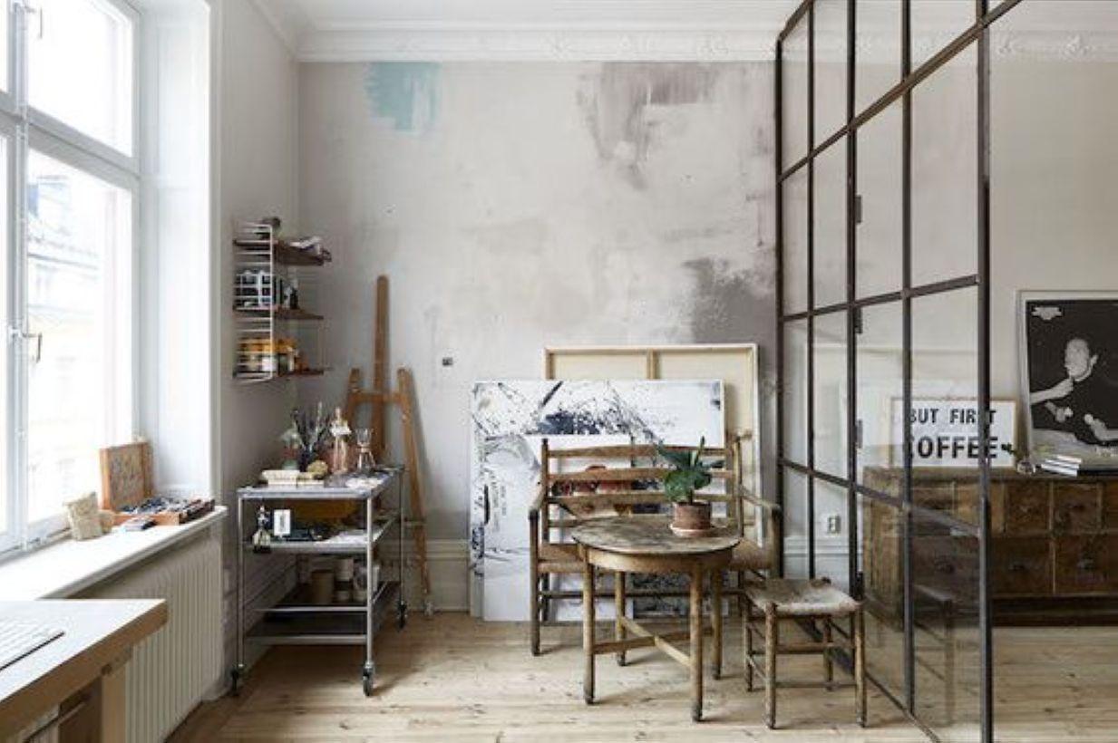 midcentury room divider design for studio apartment studio