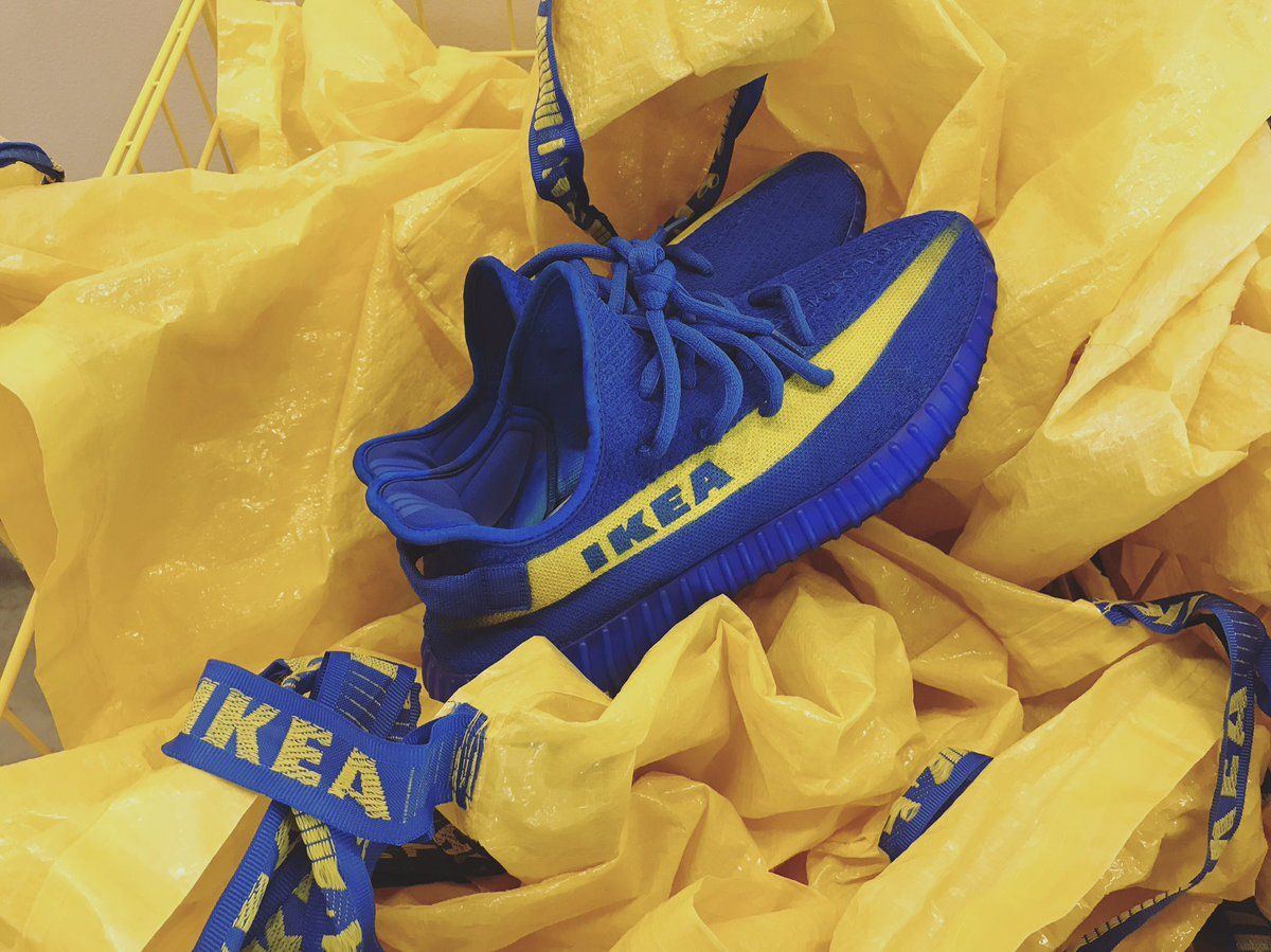 2ada8bedd The Ikea Yeezy Boosts are real now