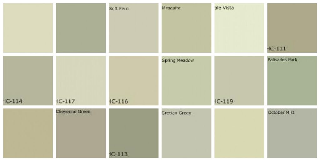 Gray green paint designers 39 favorite colors gray green for Benjamin moore light green