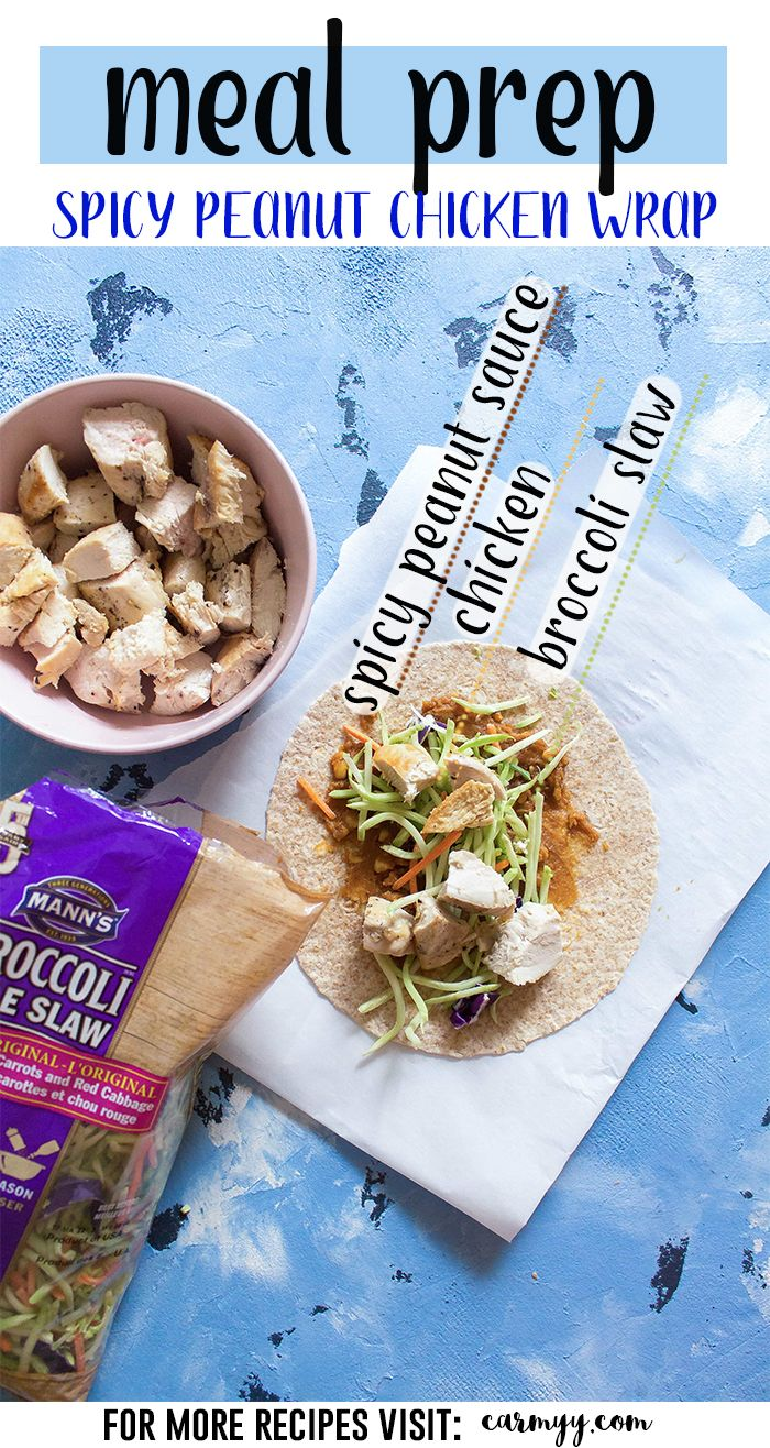 Spicy peanut chicken wraps recipe peanut chicken meals and wraps spicy peanut chicken wraps healthy meal prepmeal prep recipeshealthy forumfinder Images
