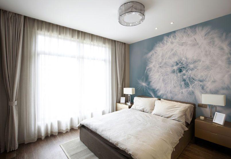 Fototapeta W Sypialni Sypialnia Styl Nowoczesny Aranzacja I Wystroj Wnetrz Serene Bedroom Home Decor Home