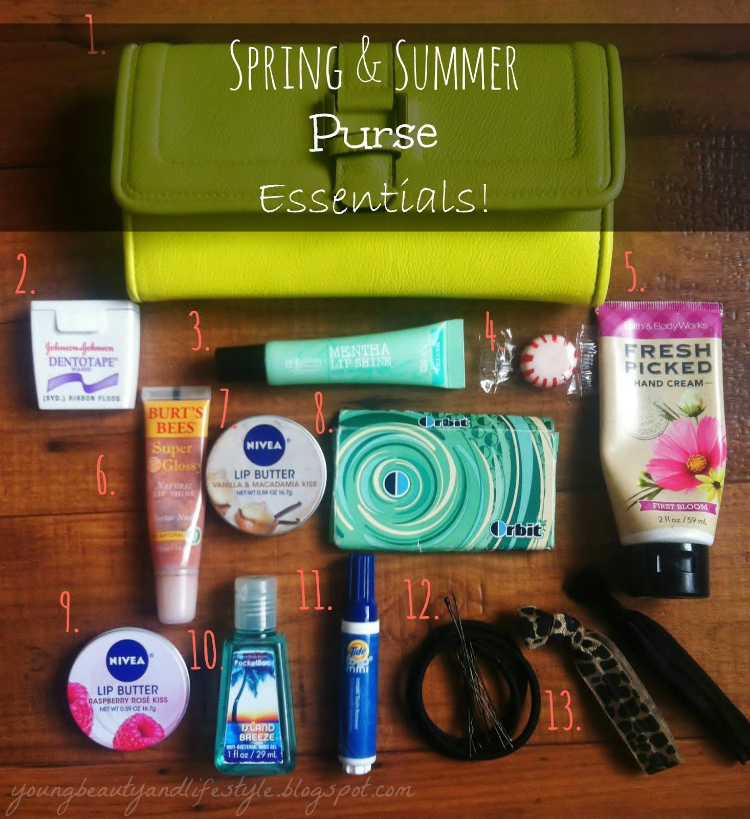 Spring & Summer Purse Essentials! Purse essentials