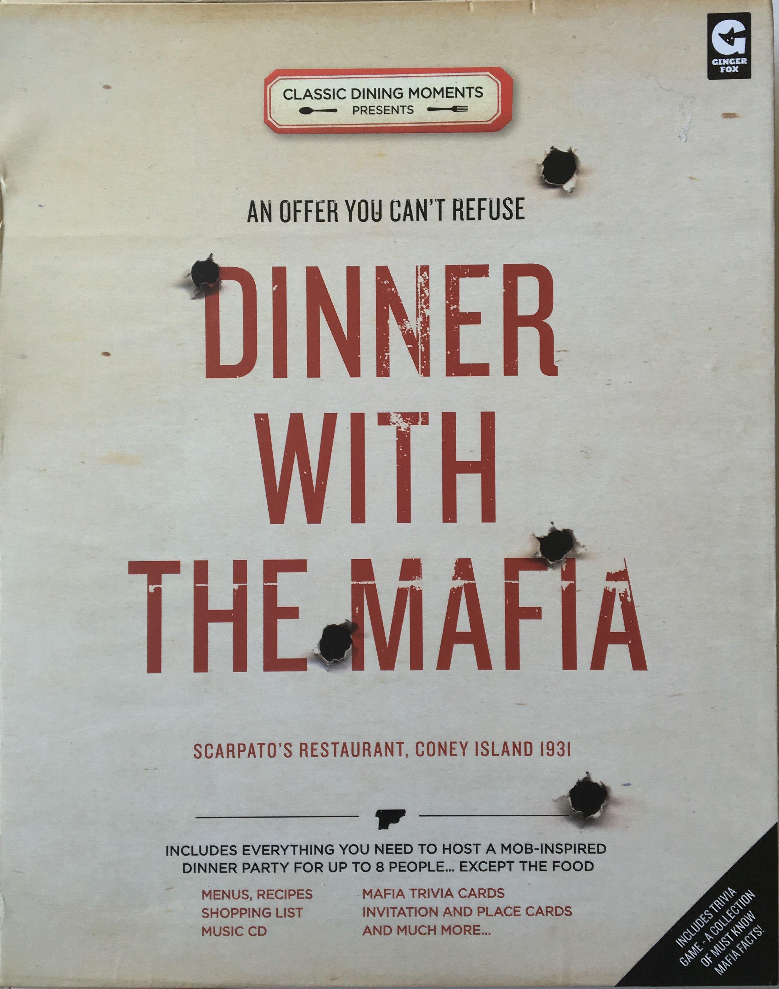 Dinner with the Mafia Mafia party, Mafia, Mafia game