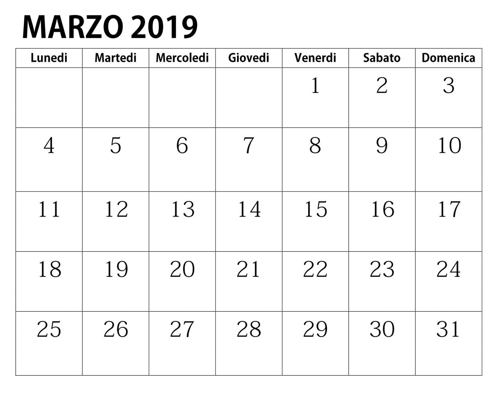 Calendario Della Famiglia 2019 Da Stampare Gratis