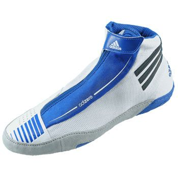 White/Black/Royal adidas adiZERO Sydney Wrestling Shoes