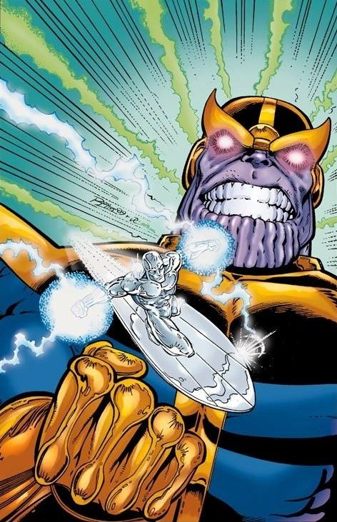 Pin By Cole Ziegler On Marvel Silver Surfer Jim Starlin Thanos