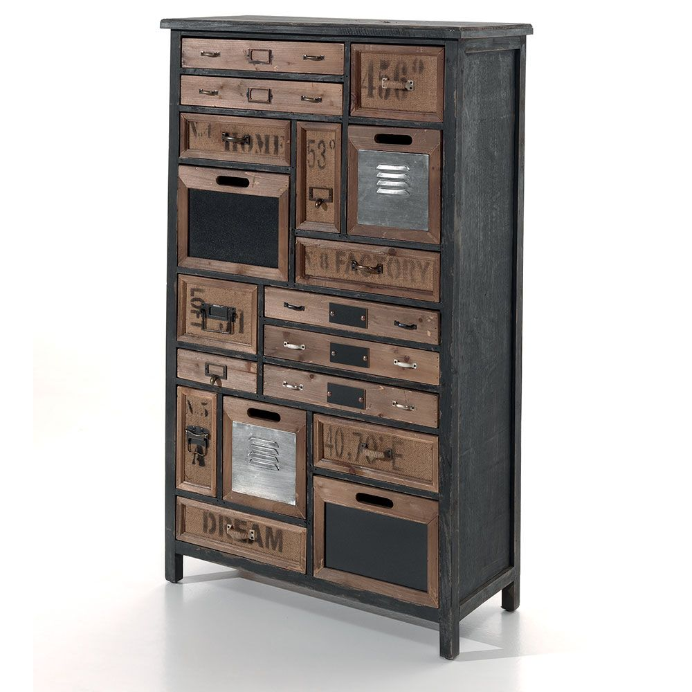 Commode Bois Vieilli Commode Wendy En 2019 Déco Combles Locker Storage Furniture
