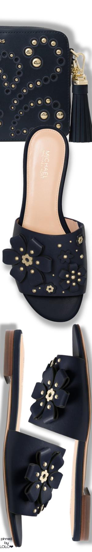 f10e128e448 MICHAEL MICHAEL KORS Tara Floral Embellished Leather Slide and Ginny Medium  Embellished Leather Crossbody