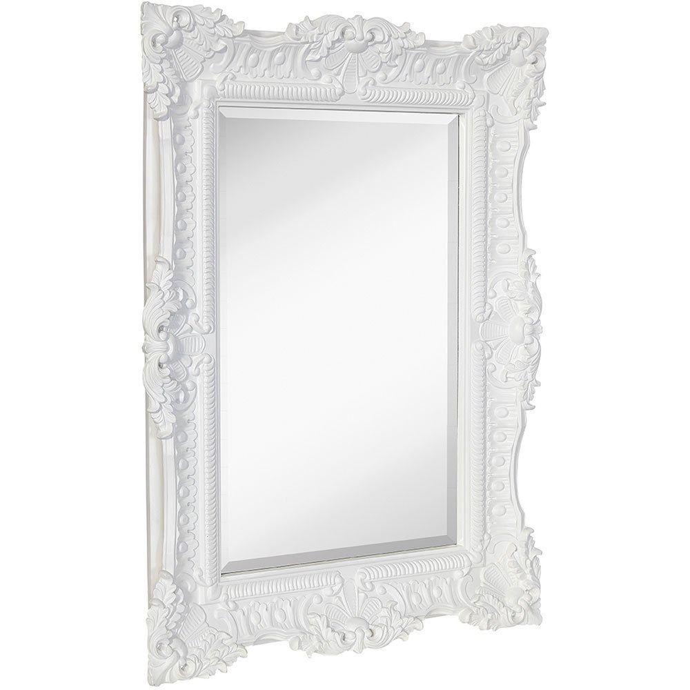 Large Ornate White Satin Baroque Frame Mirror Aged Luxury Elegant Rectang Home Garden Home Decor Mirror With Images Baroque Frames Ornate Mirror Mirror Frames