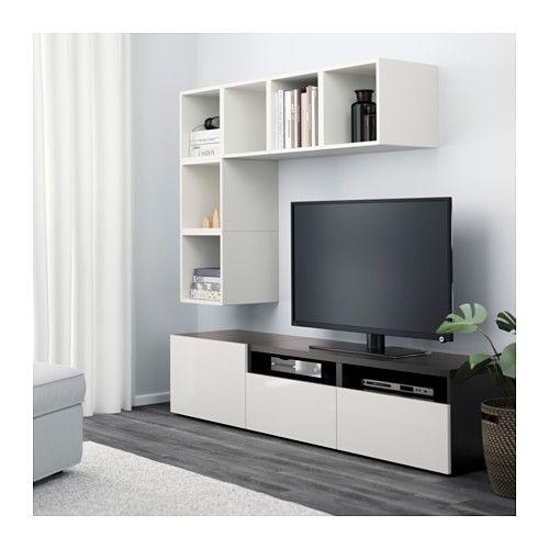 BESTÅ / EKET TV storage combination white/blackbrown