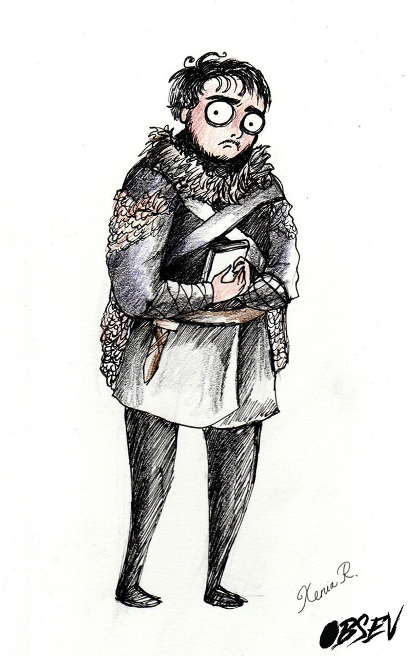 What Game of Thrones would look like if Tim Burton directed it: Samwell Tarly