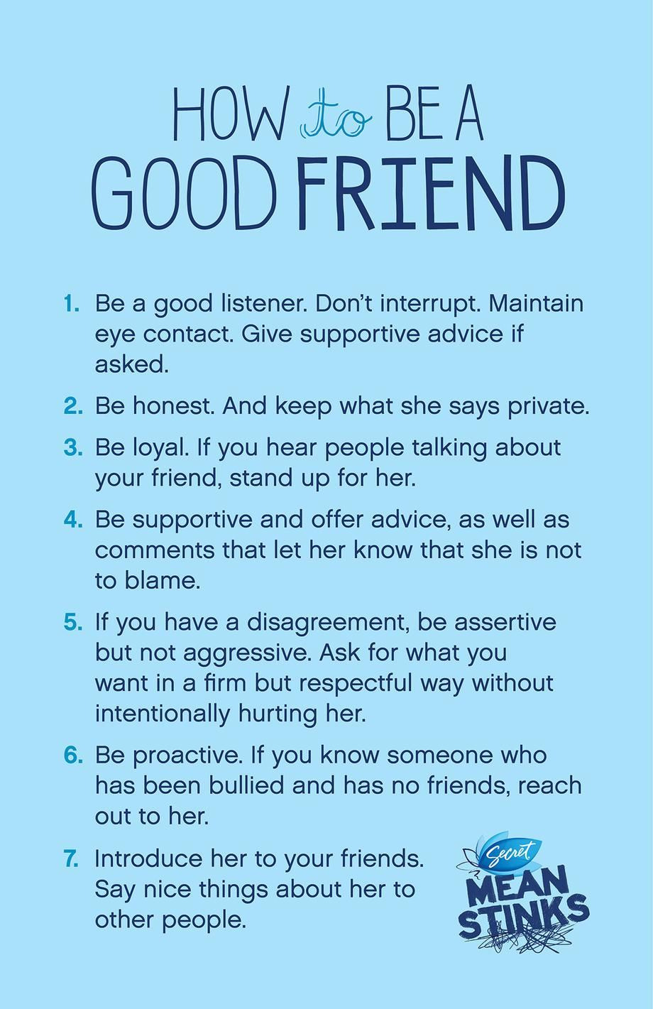 How To Be A Good Frienda Good Discussion Or Takehome