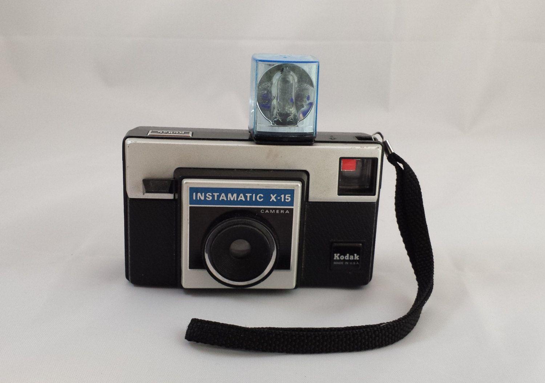 1970\'s Kodak Instamatic X-15 Film Camera with Magicube Flash ...