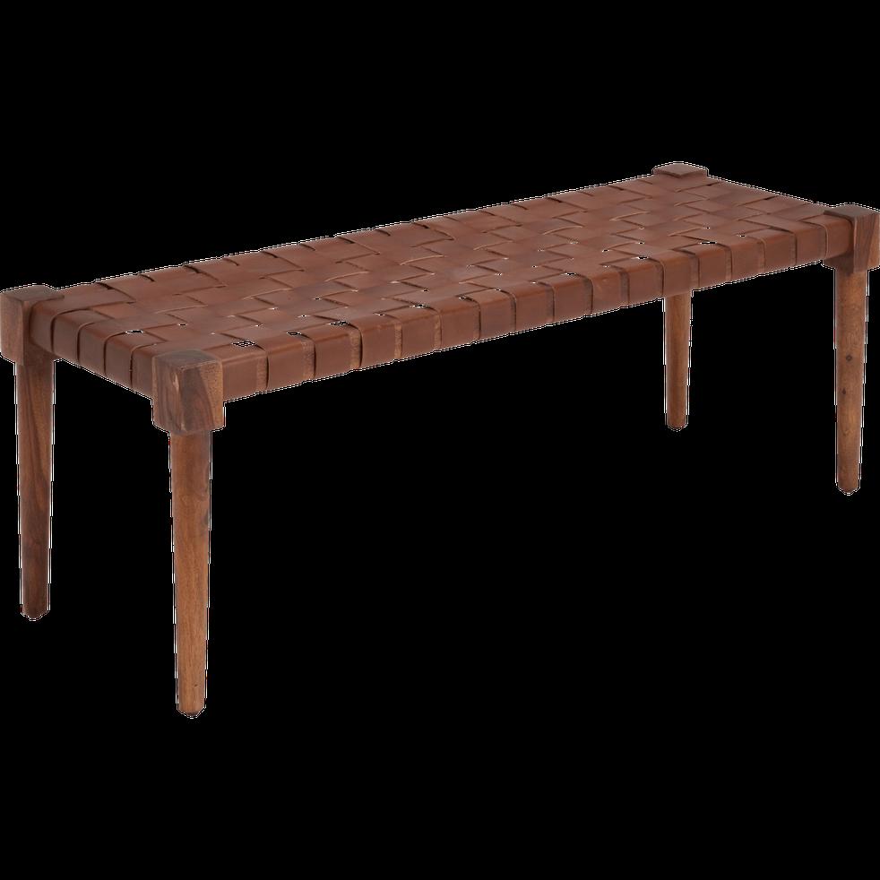 Banc en bois marron ombre - DELES - pouf et banquette - alinea