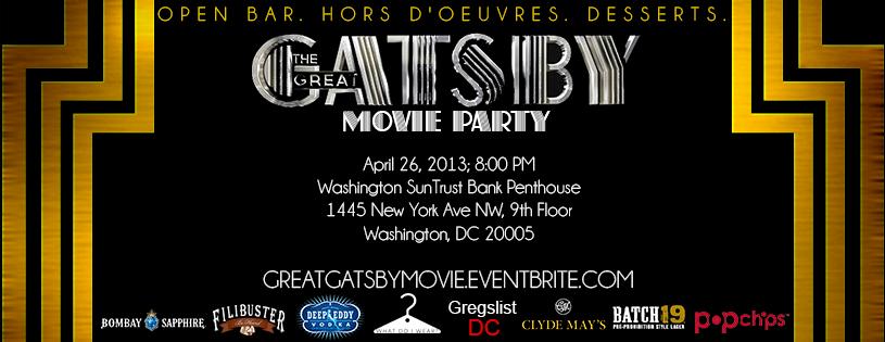 Crash Premiere Invite Idea Meetings Gatsby Movie Gatsby Movies