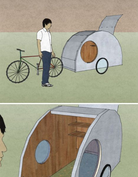 Bike Campers: 12 Mini Mobile Homes for Nomadic Cyclists ... on modular homes, storage container homes, mini homes on wheels, mini modern homes, mini homes for two, micro homes, mini portable homes, mini houses blu homes, mini homes layout, mini cabins and houses, tiny house kit homes, mini trailers, steel container homes, safe prefabricated mini homes, exotic tent homes, mini mini homes and cabins, prefab homes, custom mini homes, mini family homes, mini two story homes,
