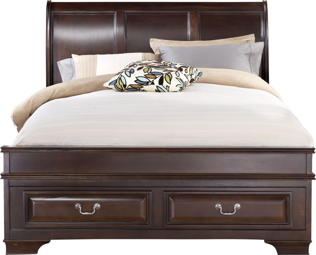 Mill Valley Ii Cherry 3 Pc Queen Sleigh Bed With Storage King