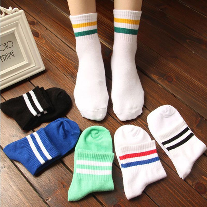 Casual Men Long Socks Striped Sport Socks Business Gym