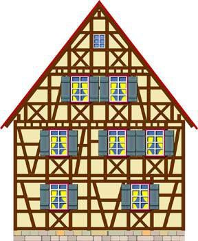 Facades maison de poup e vitrines miniatures alsace - Maison a colombage alsacienne ...