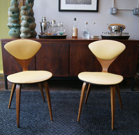 vintage side chairs by norman cherner for plycraft on etsy aud