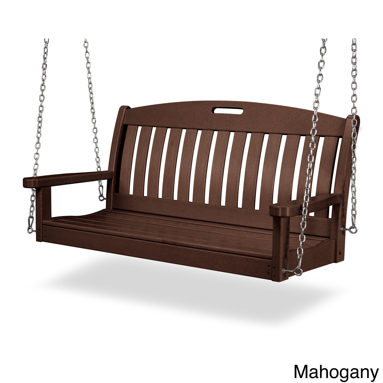Nautical polywood inch swing mahogany brown plastic ns