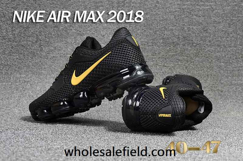 competitive price d0cd0 acd2c New Nike Air Max 2018 KPU Black Gold Men Shoes