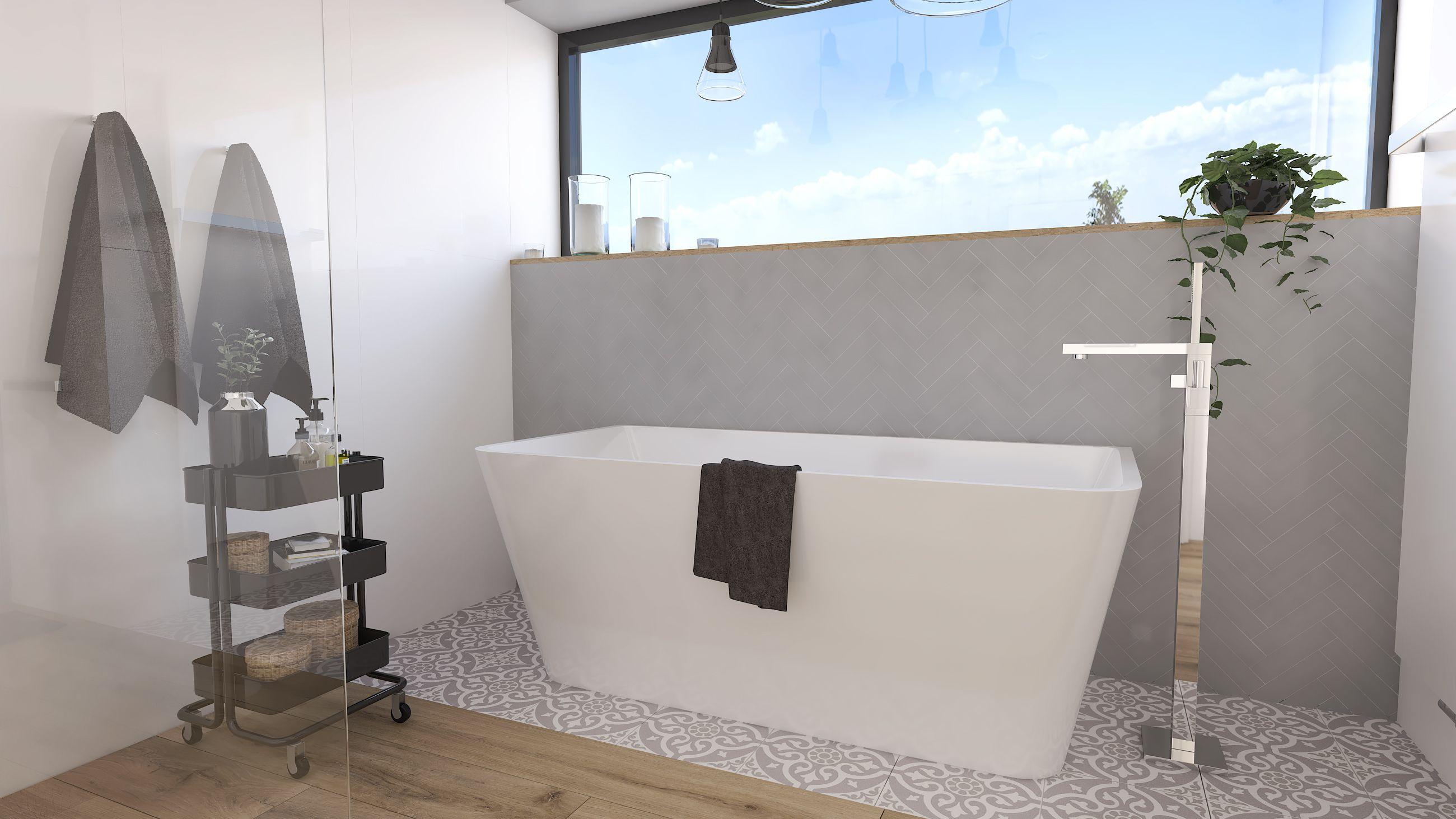 Wanna W Lazience Dla Dziewczyny Z Naturalna Energia Bathtub Bathroom