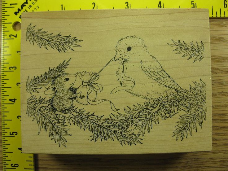Stampinsisters Rubber Stamp House Mouse Bird Opening Package Stampa Rosa #1265 #StampaRosa