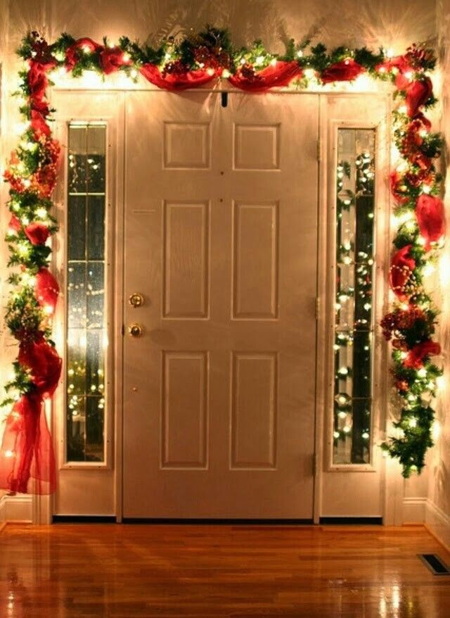 25 Homemade Christmas Decoration Ideas. Inside Front DoorsFront  EntryChristmas ...
