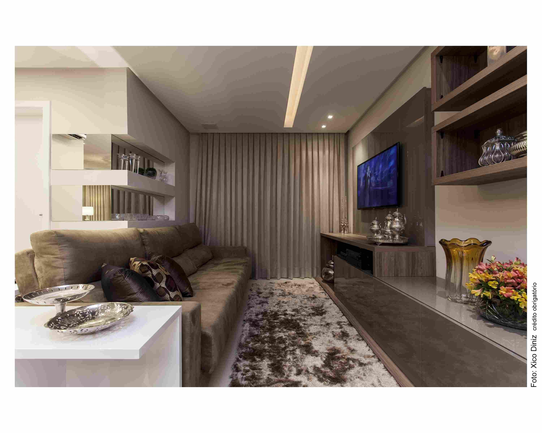 Decora O De Sala Com Sof Marrom Modernos E Lindos Dicas Para  -> Decoracao De Sala De Tv Com Sofa Azul