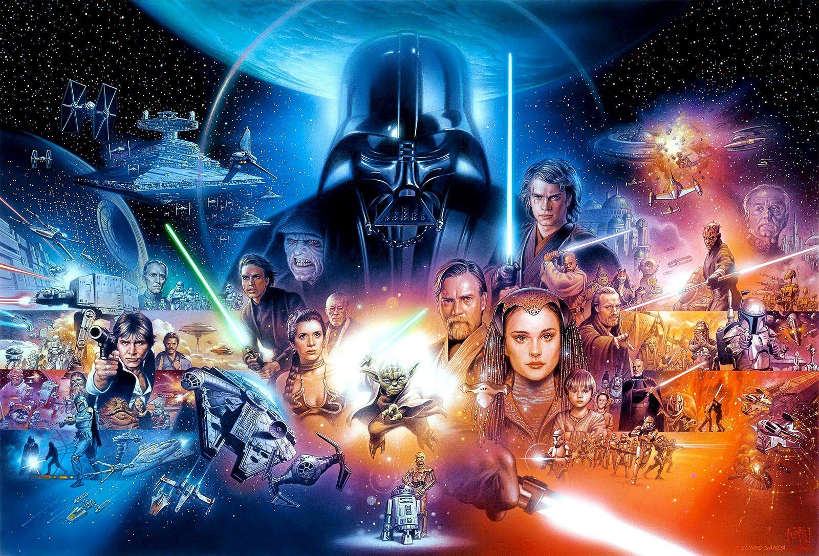 The Legend Of Star Wars By Tsuneo Sanda Star Wars Wallpaper Star Wars Poster Star Wars Movie