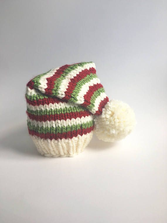 Baby Striped Elf Hat Knitting Pattern Pattern Only My Favorites