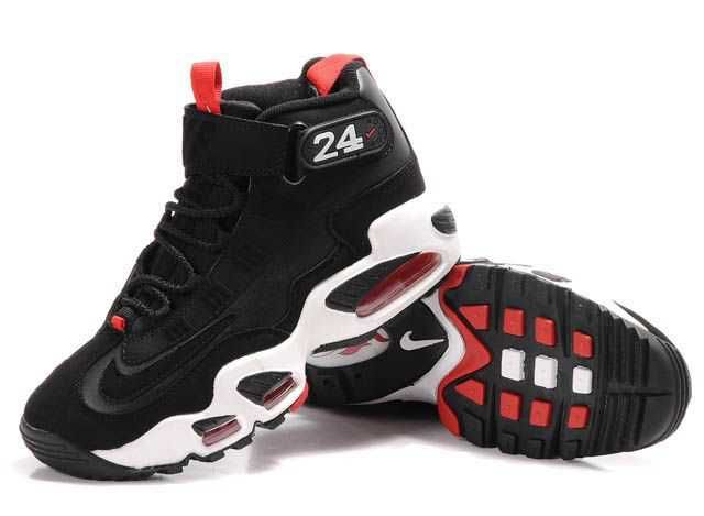 Nike Ken Griffey JR Shoes Black White Red For Women