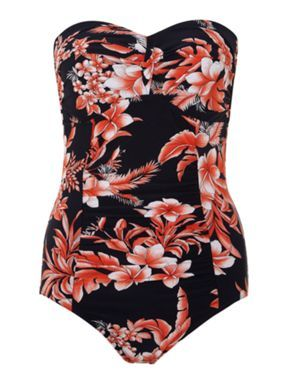 Seafolly Tropical goddess twist bandeau swimsuit Multi-Coloured - House of Fraser