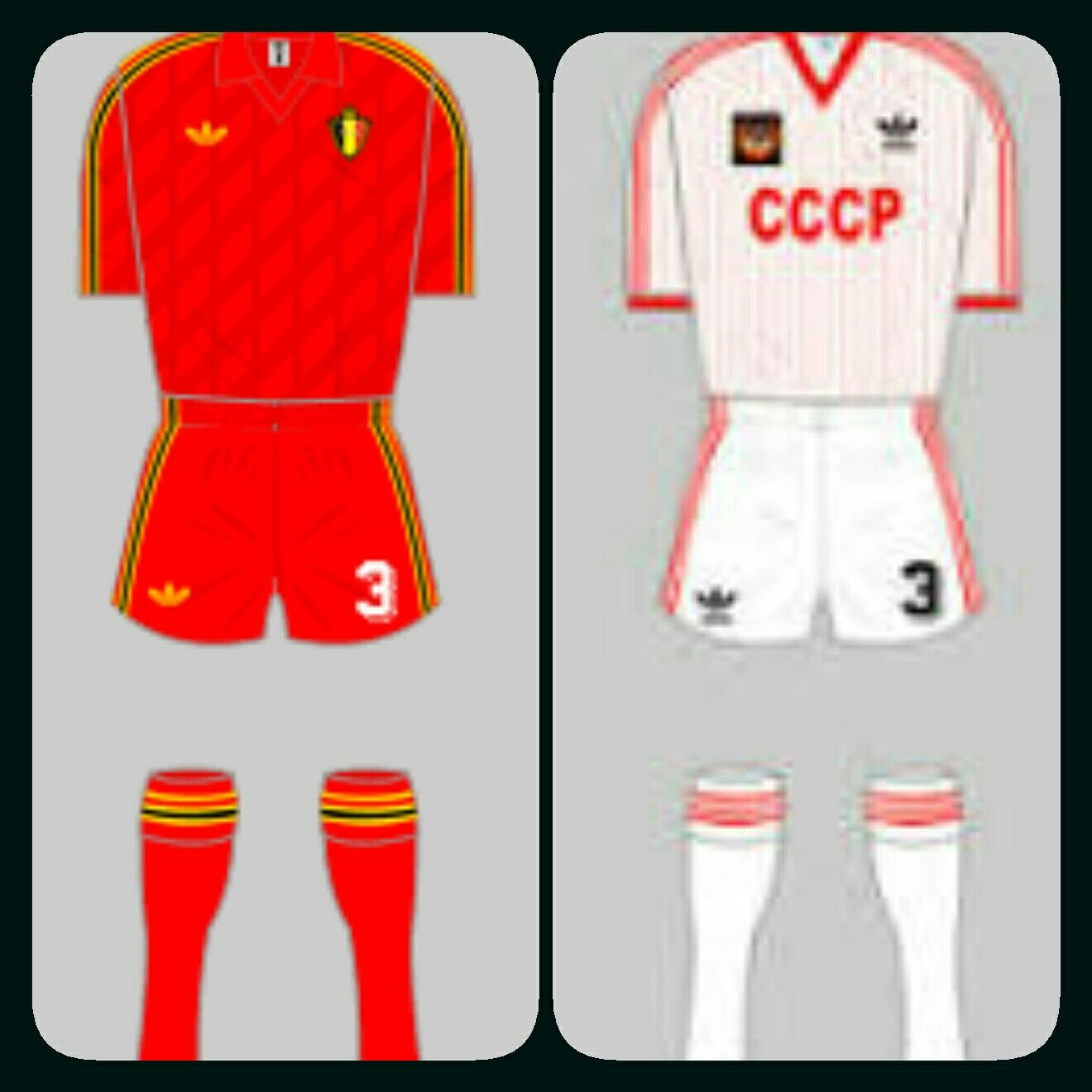 Belgium 4 USSR 3 in 1986 in Leon. Classic match played in the heat of Leon in Round 2 at the World Cup Finals.