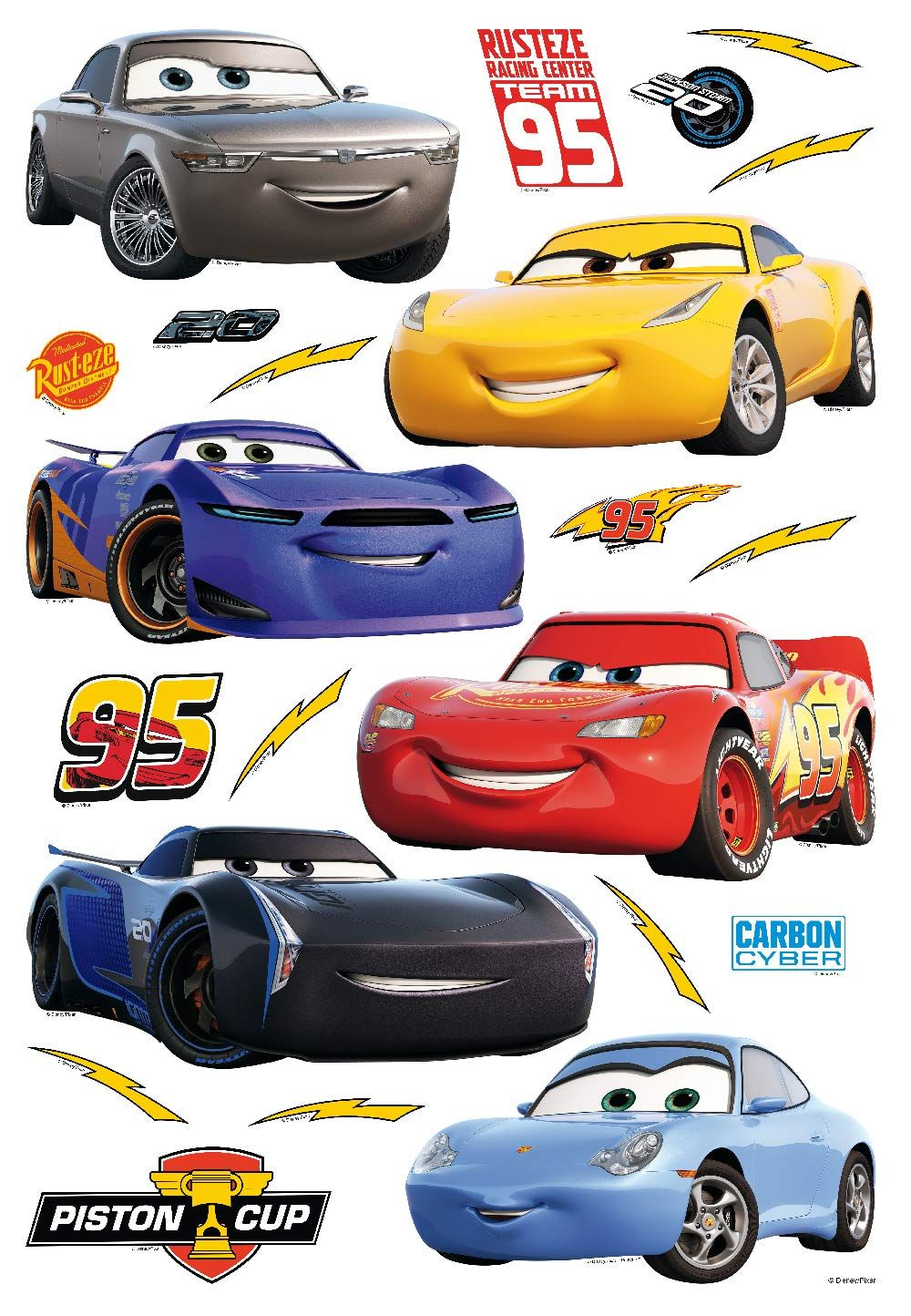 Stickers Geant Cars 3 Flash Mcqueen Sticker Sur Bebegavroche Molniya Makkuin Detskie Postery Multfilmy [ 1444 x 1000 Pixel ]