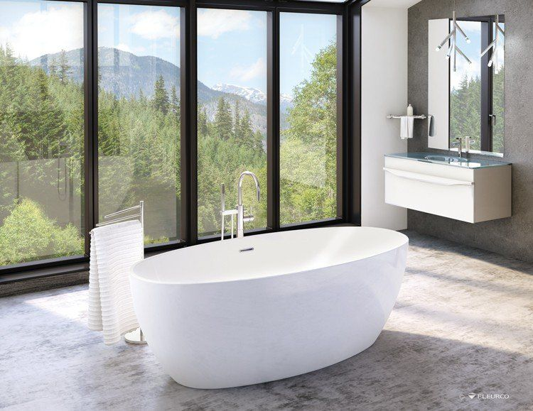 55 Inch Freestanding Tub.Voce Acrylic Double Ended Freestanding Bathtub No Faucet