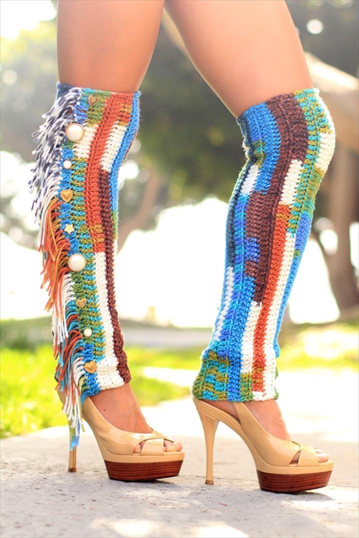 72 Adorable Crochet Winter Leg Warmer Ideas | Pinterest | Tejido