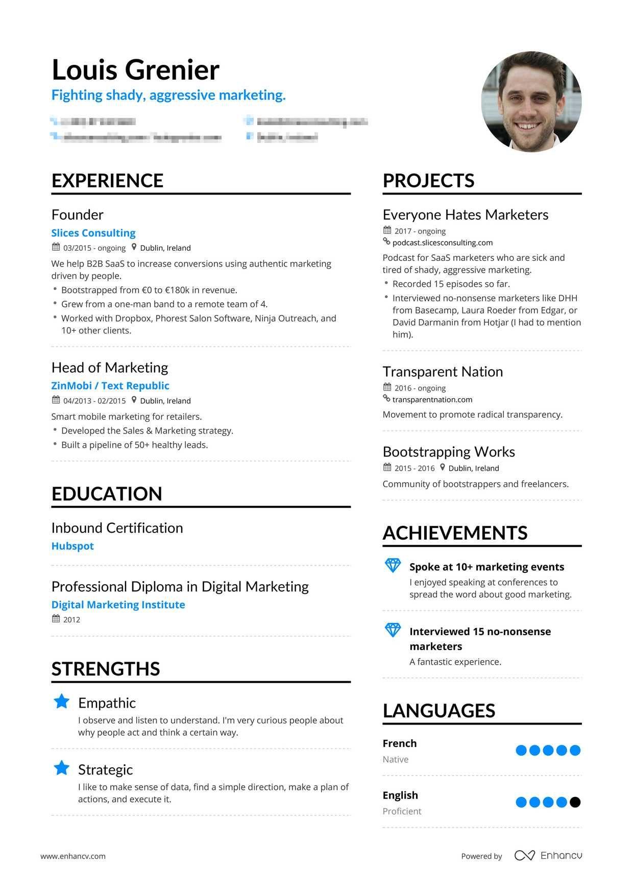 Professional Cv Resume Builder Pricing Enhancv