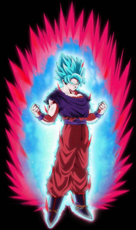 Goku Ssj Blue Kaioken Universo 7 Dbs Dragon Ball Goku Dragon