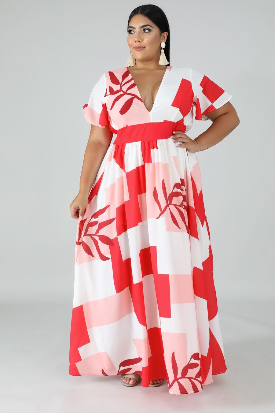 Style 51275 X Description This Get Away Maxi Dress Features A Stretchy Fabric V Neckli Latest African Fashion Dresses Fashion Dresses Online Style Maxi Dress [ 1350 x 900 Pixel ]