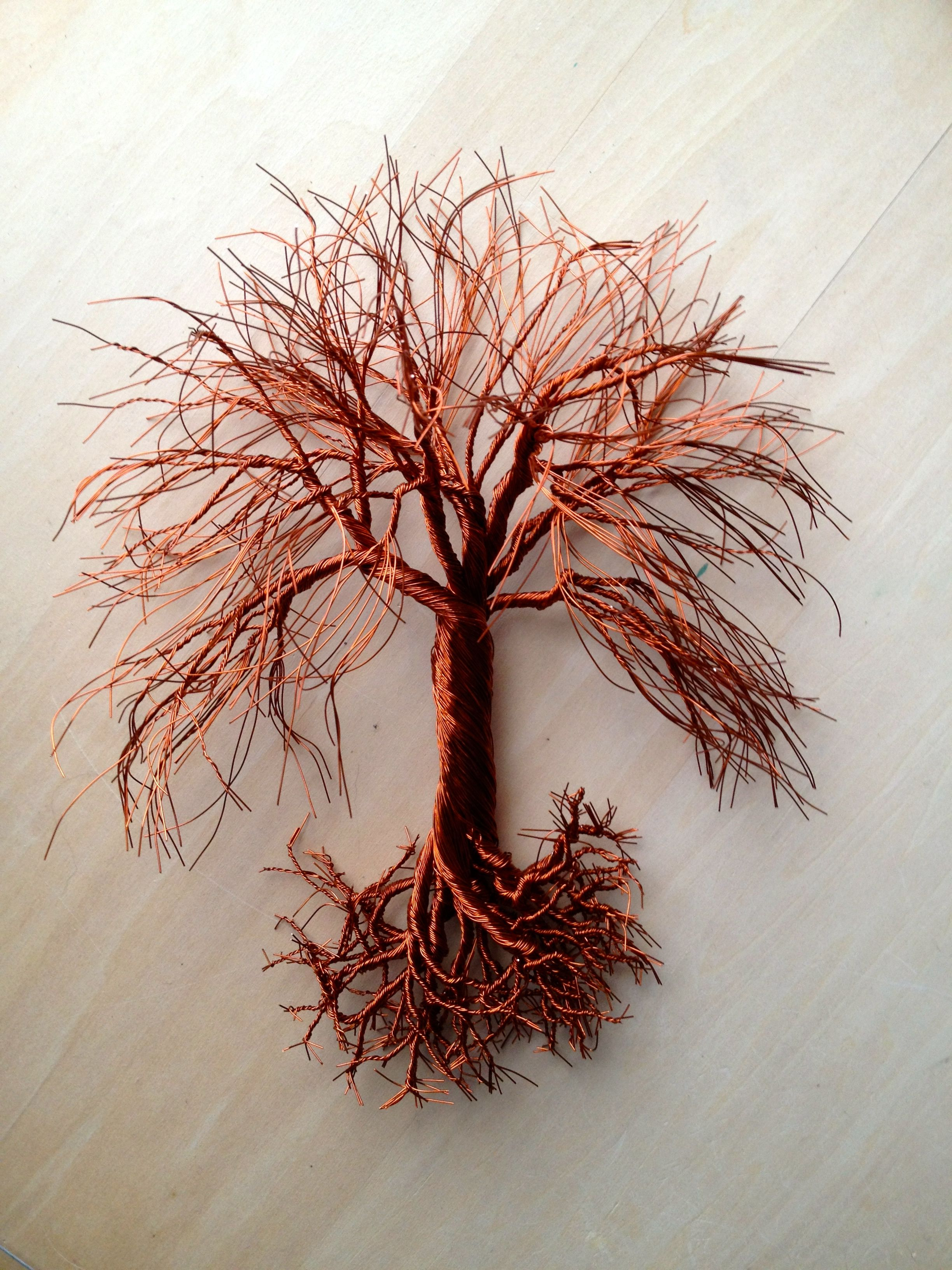 Small 8 Quot Hanging Copper Wire Tree Art For Sale 65 00 Www